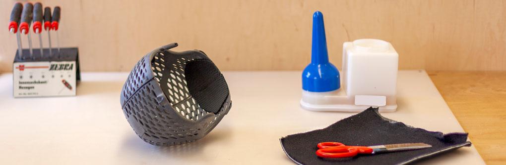 3D Druck Helm Fertigung